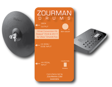 Zourman Drums hi-hat conversion modules for 2box