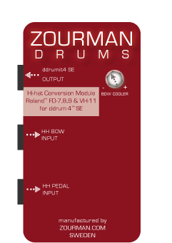Zourman Drums introduces a hi-hat conversion module for ddrum4 SE