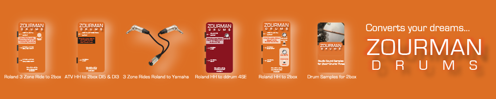 Zourman Drums e-Stickz!